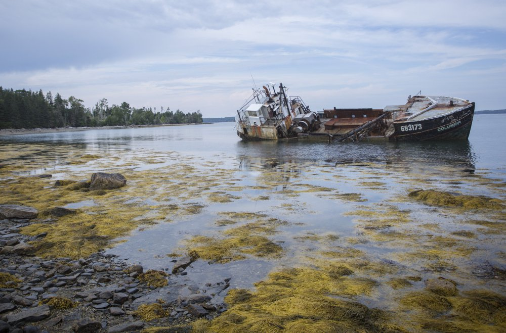 Abandoned Wooden Fishing Vessel an Environmental Concern for Louds Island Residents