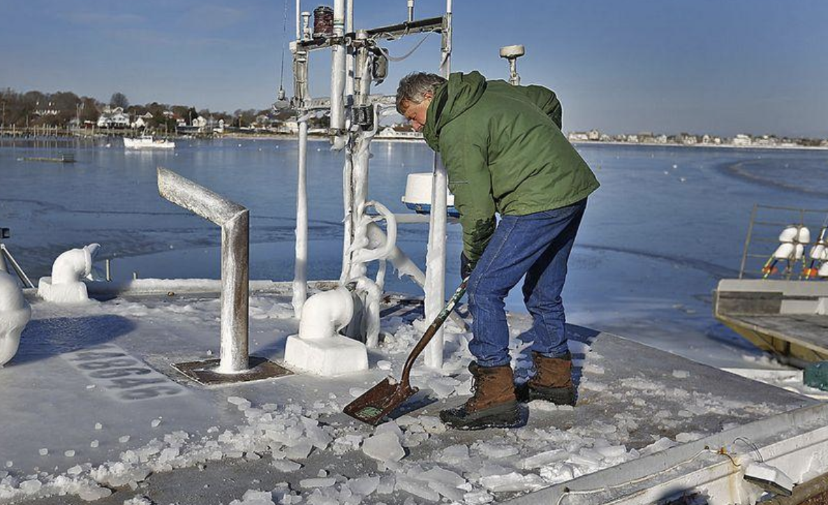 With Iced up Harbors, Massachusetts Lobstermen Face Challenge Getting Traps Out of Water by Feb 1st