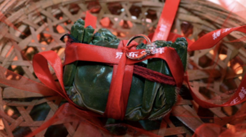 Chinese Hairy Crab in Traditional Wrapping