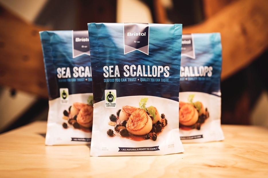 Bristol Seafoods Sea Scallops are First US Harvested Seafood Item to Get Fair Trade Certification