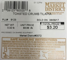 Slade Gorton Tilapia Recall Expands to Giant Eagle