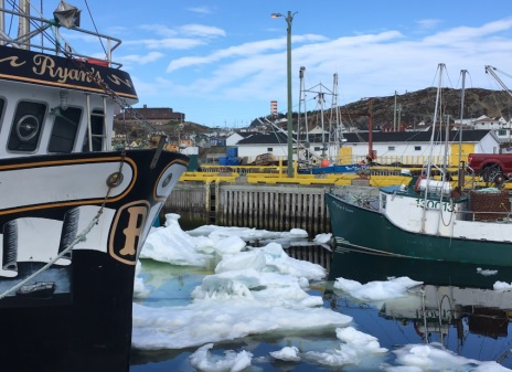 Several Crab Boats Trapped in Heavy Ice Around Newfoundland, One Sinks, 5 Crew Helicoptered Off