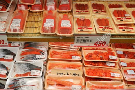 Japanese Supermarkets Seafood Sales Drop in June on Rumors of Food Poisoning Due to Parasite