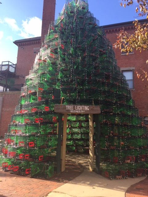 300 New, Donated Pots Stack Up for Gloucesters Lobster Trap Tree