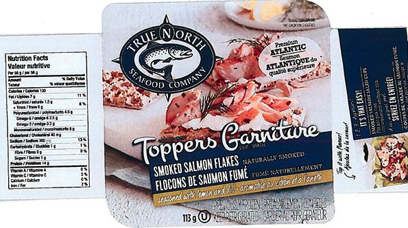 True North Seafood Company Recalls Toppers Smoked Salmon Flakes