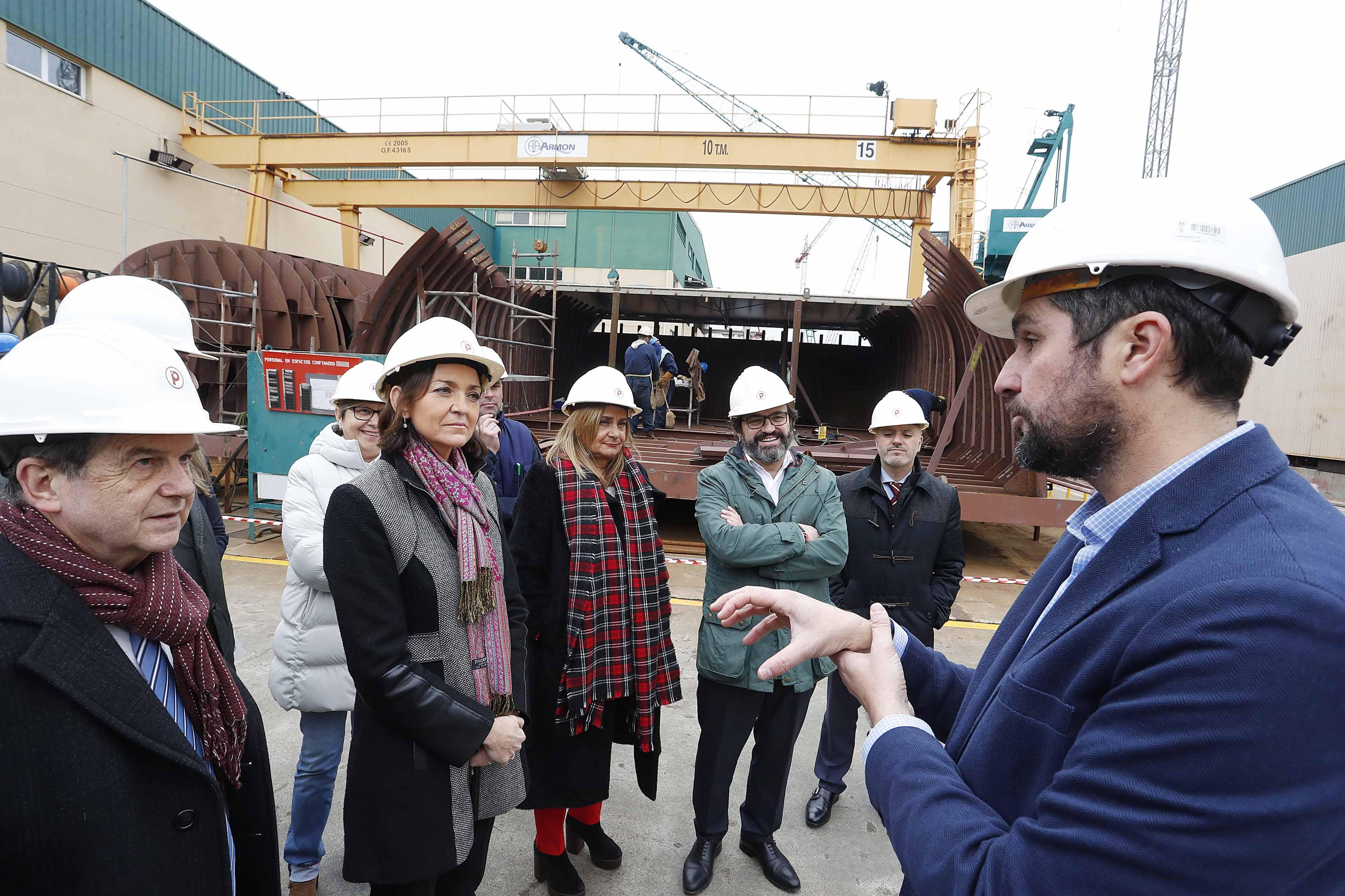 Spanish Minister of Industry Visits Nueva Pescanova's Shipyard, Surimi Processing Plant
