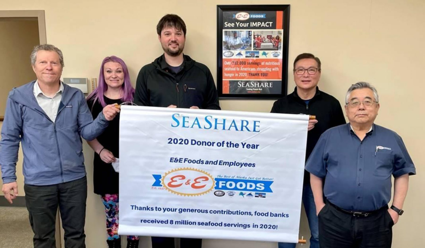 SeaShare Names E&E Foods 2020 Donor of the Year