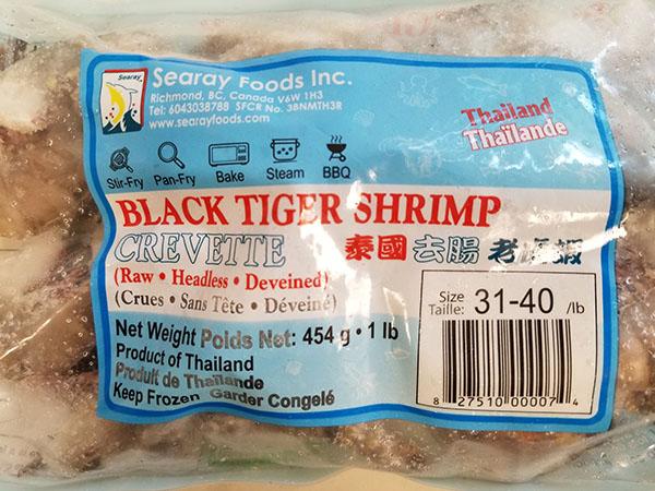CFIA: Pair of Companies Recall Black Tiger Shrimp Due to Undeclared Sulphites