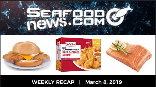 VIDEO: Farmed Salmon Update; Lent Seafood; MSC Gulf Snow Crab; SeaPak Budweiser Partnership