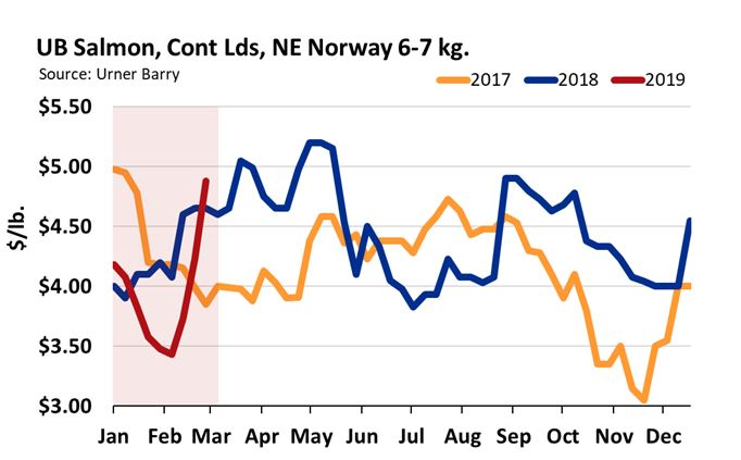 Farmed Salmon Market on the Rise, Retail Promotions Up 62% From Same Time Last Year