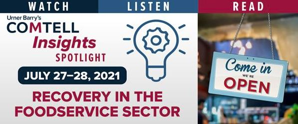 Urner Barry Insights to Host Spotlight on Foodservice Recovery July 27-28