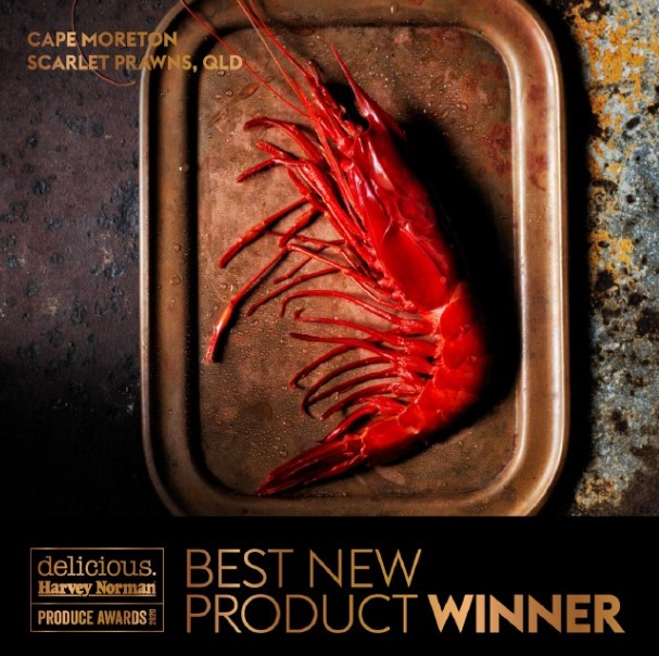 Cape Moreton Scarlet Prawns Named Best New Product by Australias Delicious