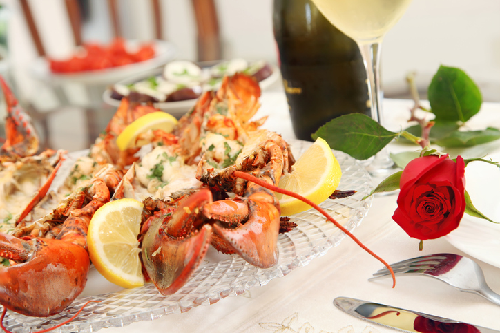 U.S. Diners Seek Out Lobster at Most Romantic Restaurants During Valentine's Day