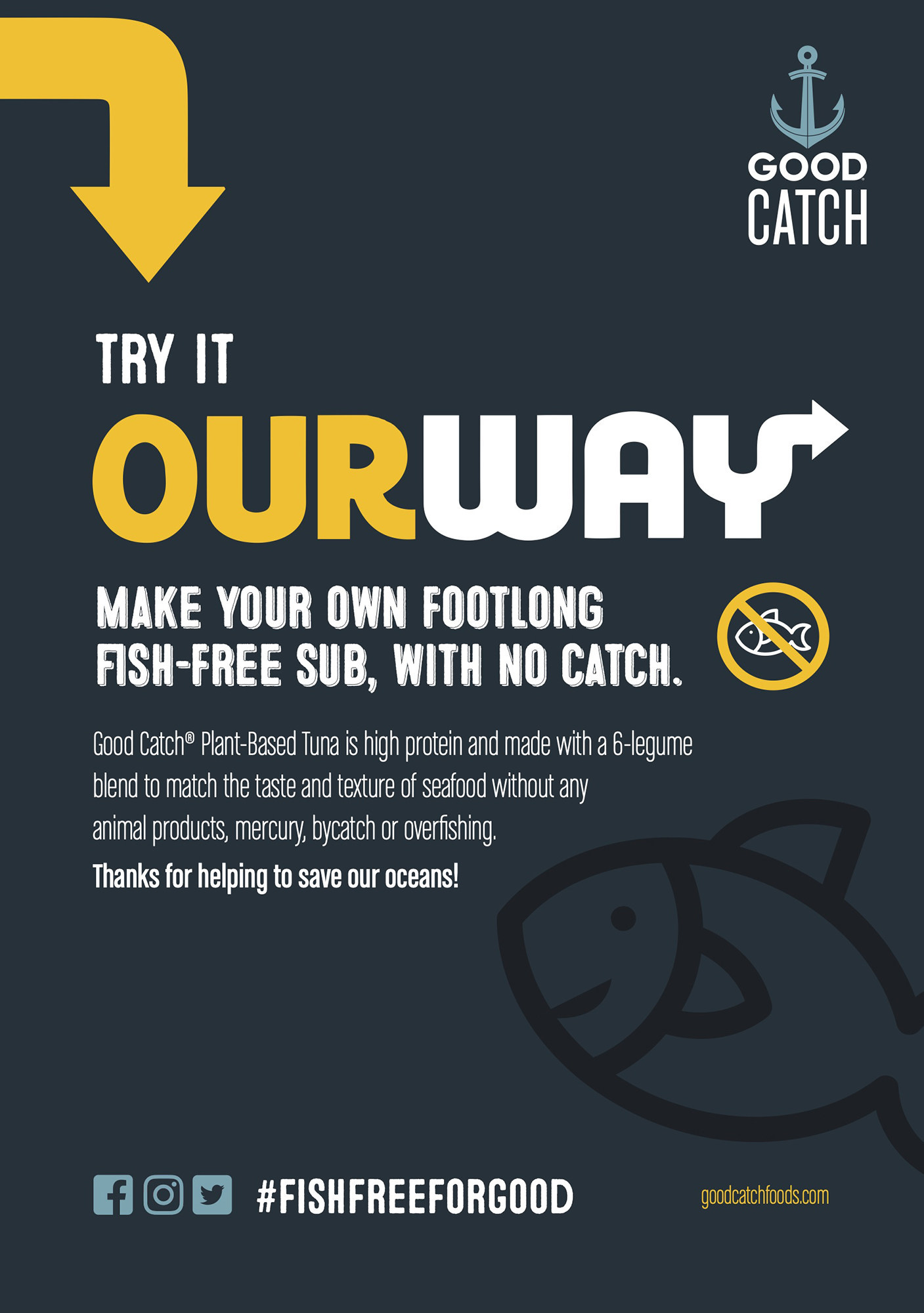 Good Catch Debuts 'OurWay' Food Van Featuring Plant-based Tuna Amid Subway Controversy