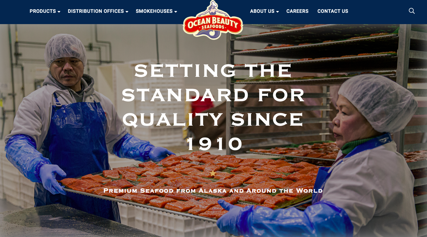 Ocean Beauty Launches New Website After Merger to Form OBI Seafoods