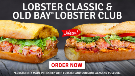 Quiznos Brings Back Lobster Classic, Introduces New Old Bay Lobster Club Ahead of Lent