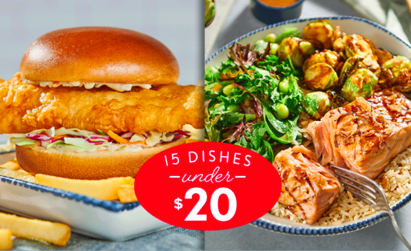 Red Lobster Debuts New Menu With 15 Dishes Under $20