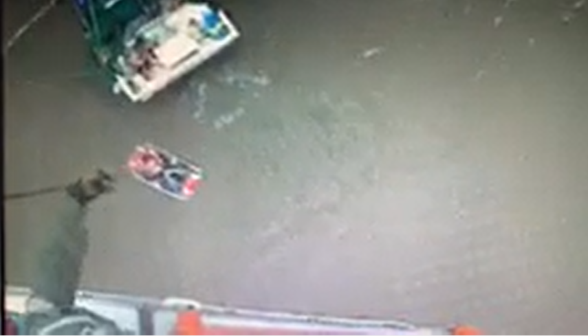 USCG Rescues Two Shrimp Fishermen in Louisiana