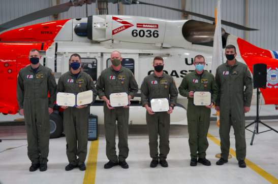 Alaska's Coast Guard Honors Four With Air Medals for Heroic Rescue Last November