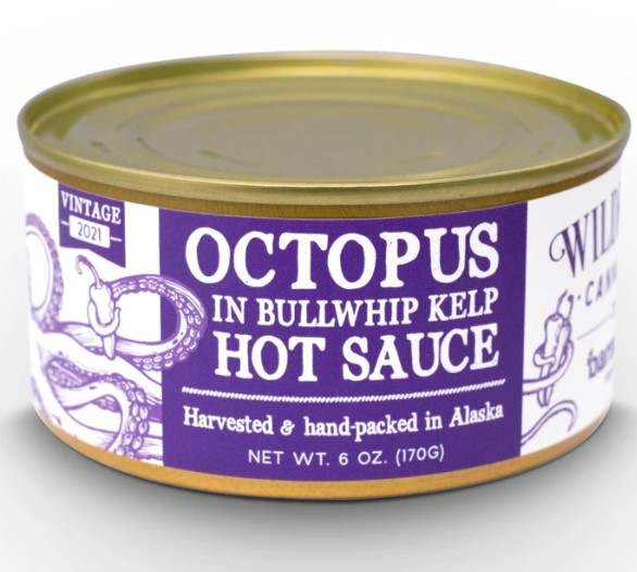 Wildfish Cannery and Barnacle Foods Launch Limited Release Octopus in Bullwhip Kelp Hot Sauce
