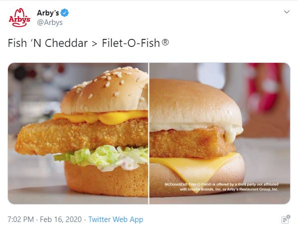 Arby's Fires First in Fish Sandwich War as Lent Looms