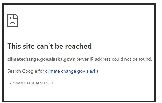 Climate Change Will Clobber Alaska; Climate Policy Pulled by New Governor