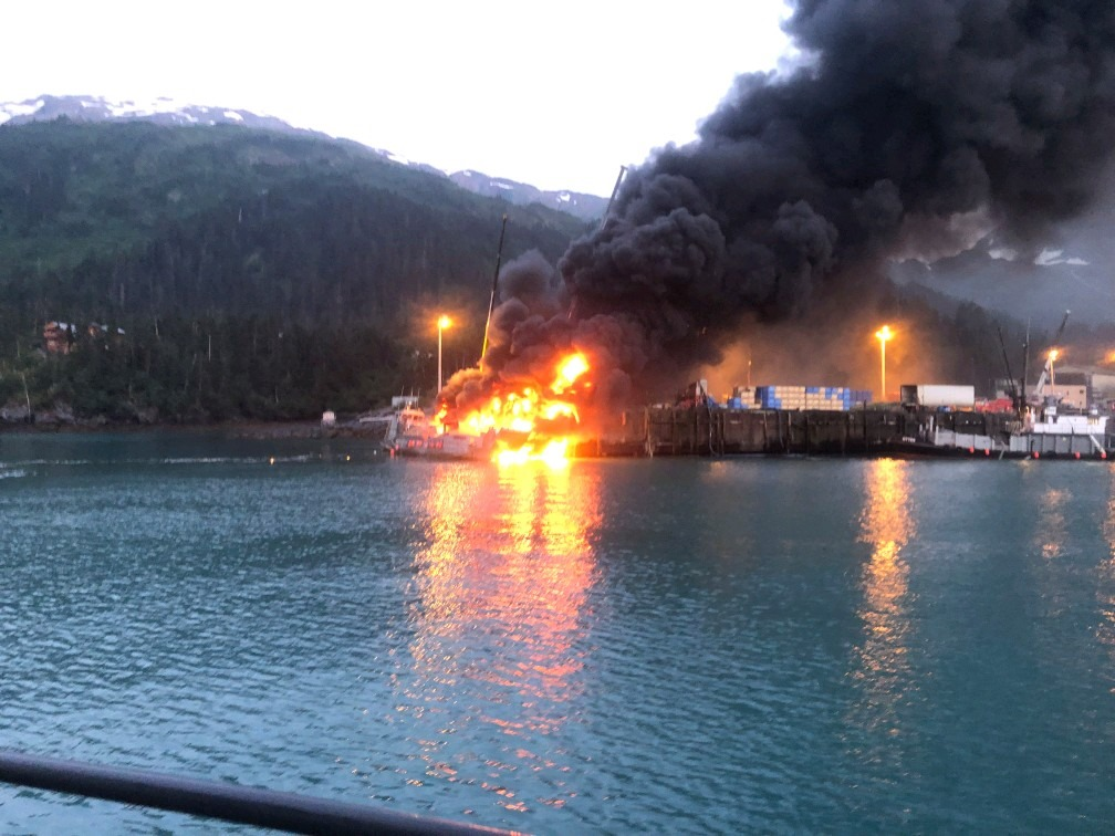 Whittier Dock Fire Triggers State of Emergency as Peak Fishing and Cruise Season Arrives