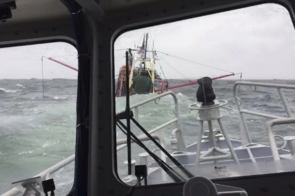 Coast Guard Rescues 2 Crewmembers from Sinking Vessel Near Fishers Island, New York