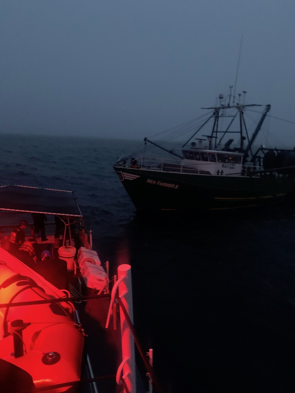 Coast Guard Tows Disabled Fishing Vessel Off Kennebunk, Maine