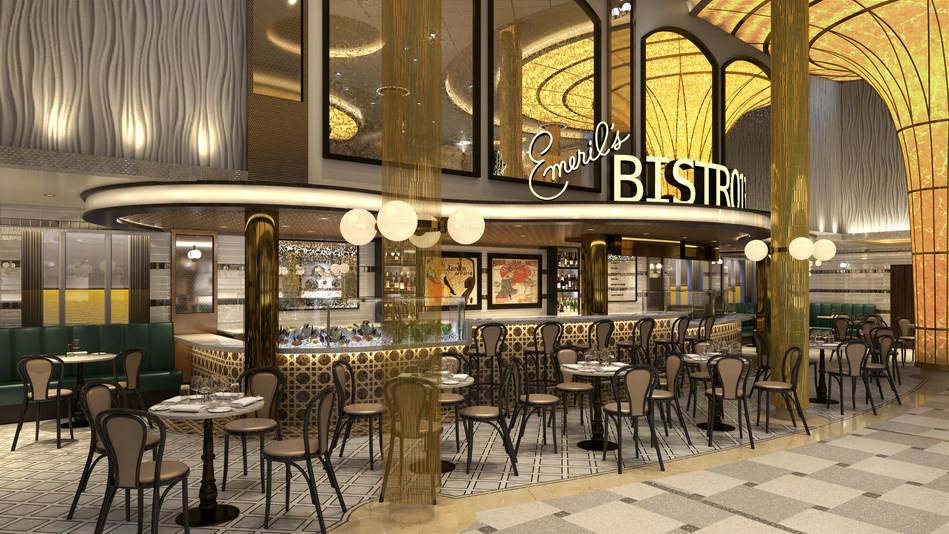 Emeril Lagasse Brings Oysters and BBQ Shrimp to New Restaurant At Sea