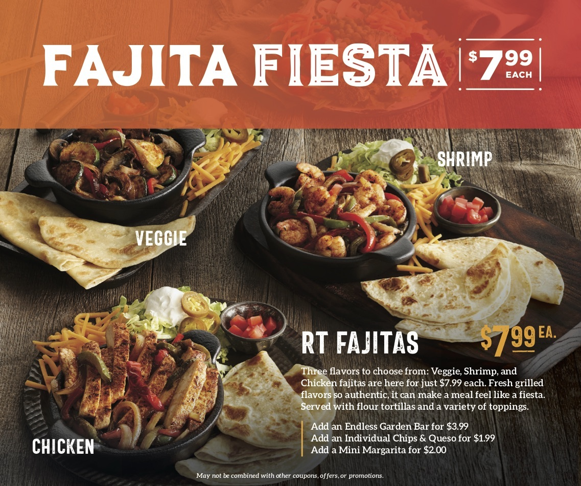 Ruby Tuesdays Brings Back 7 99 Shrimp Fajitas