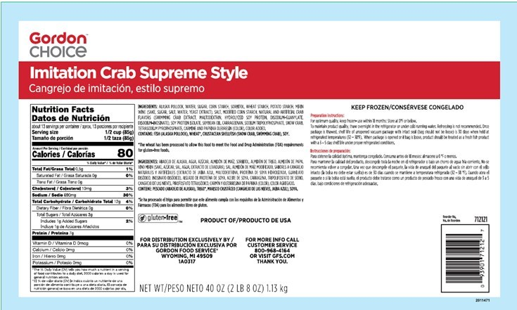 Trident Seafoods Recalls Gordon Choice Imitation Crab Product