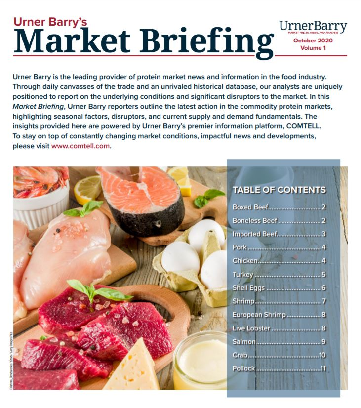 Urner Barrys Market Briefing Brings You the Latest in Protein Pricing Insight