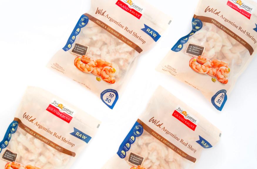 Camanchaca Debuts Wild Argentine Red Shrimp Under Pier 33 Gourmet by Grand Krust Label