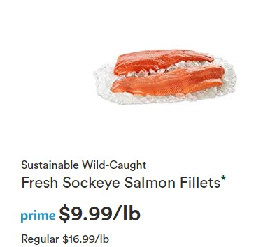 Whole Foods Offering Discount on Wild-Caught Sockeye Salmon Fillets as Part of Prime Day