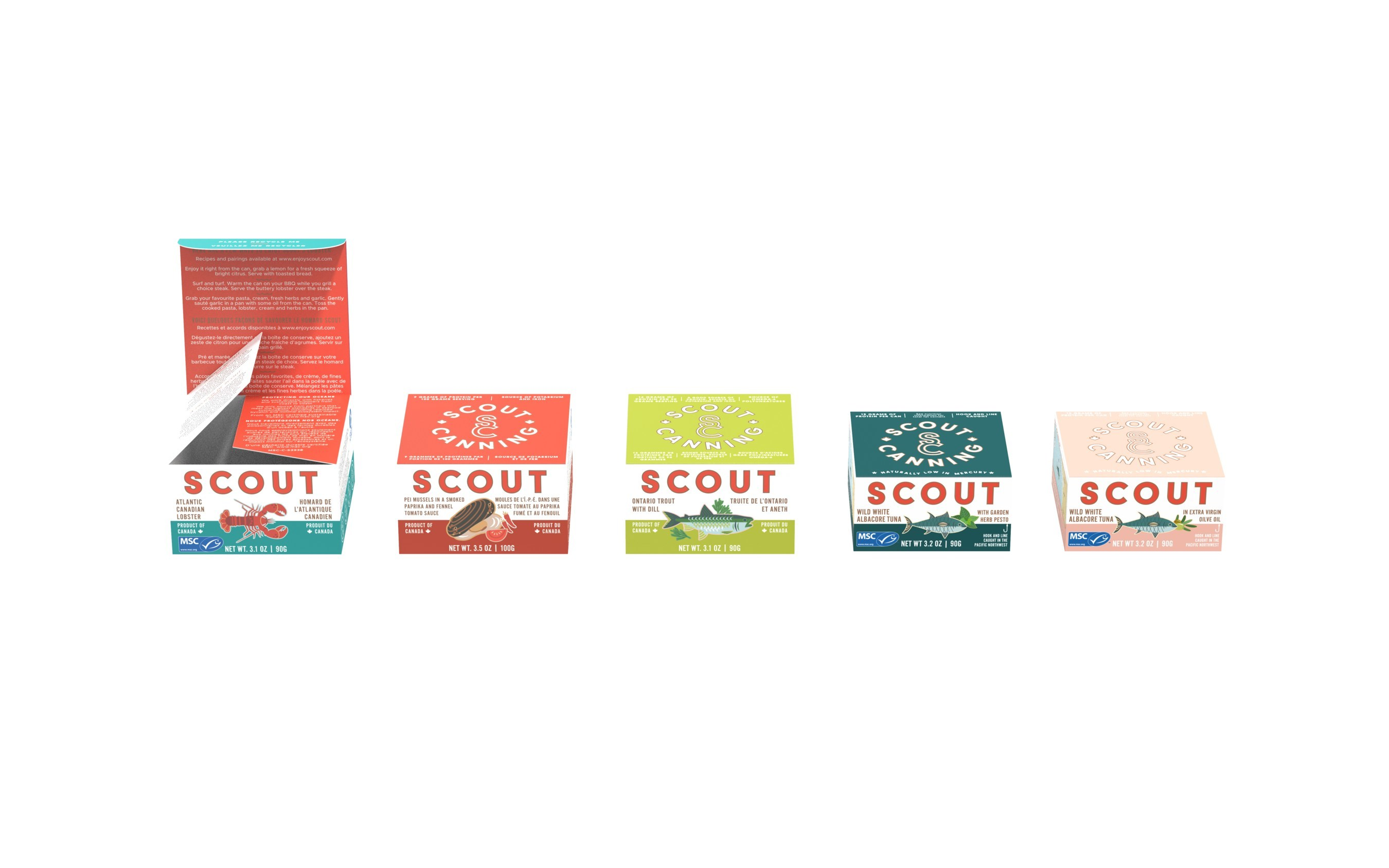 U.S., Canada Sourced Canned Seafood Brand Scout, Launches