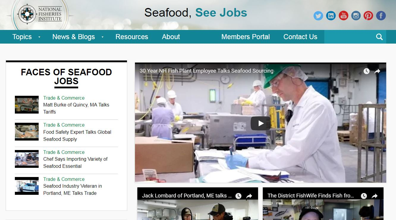 "NFI Expands ""Seafood, See Jobs"" Trade Education Campaign"