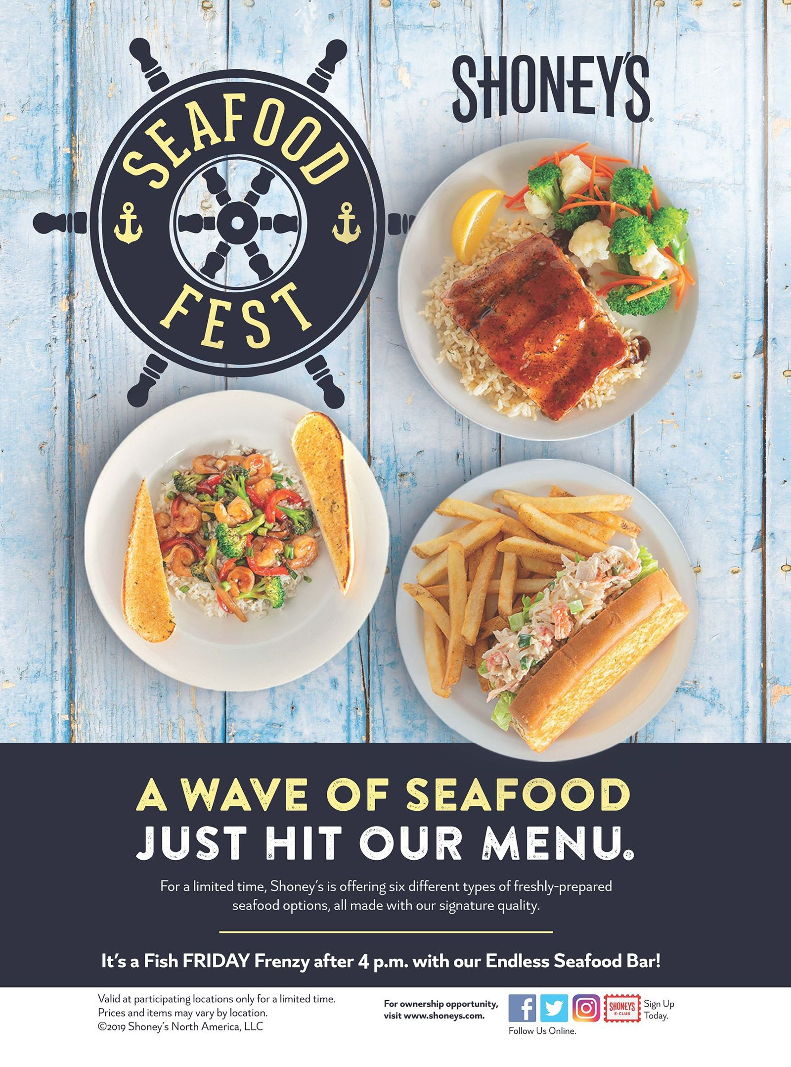Shoney's Kicks Off Seafood Season with New Menu Items, Enhanced Seafood Fresh Food Bar